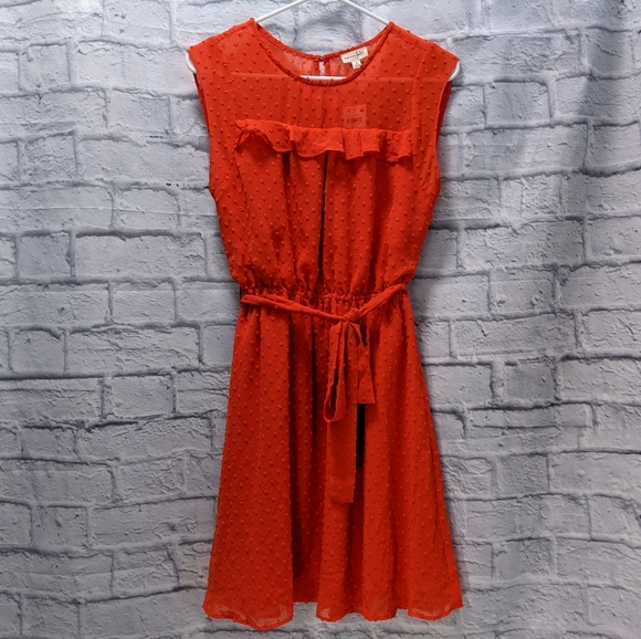 NWT Maison Jules red Singapore notte dress